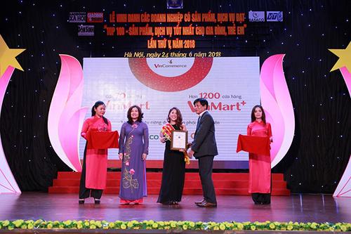 Vinpro và Famy nhận Giải thưởng top 100 sản phẩm dịch vụ tốt nhất cho gia đình