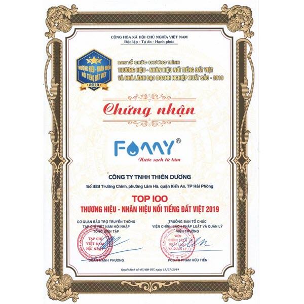 Famy vào top 100 thương hiệu nổi tiếng Đất Việt