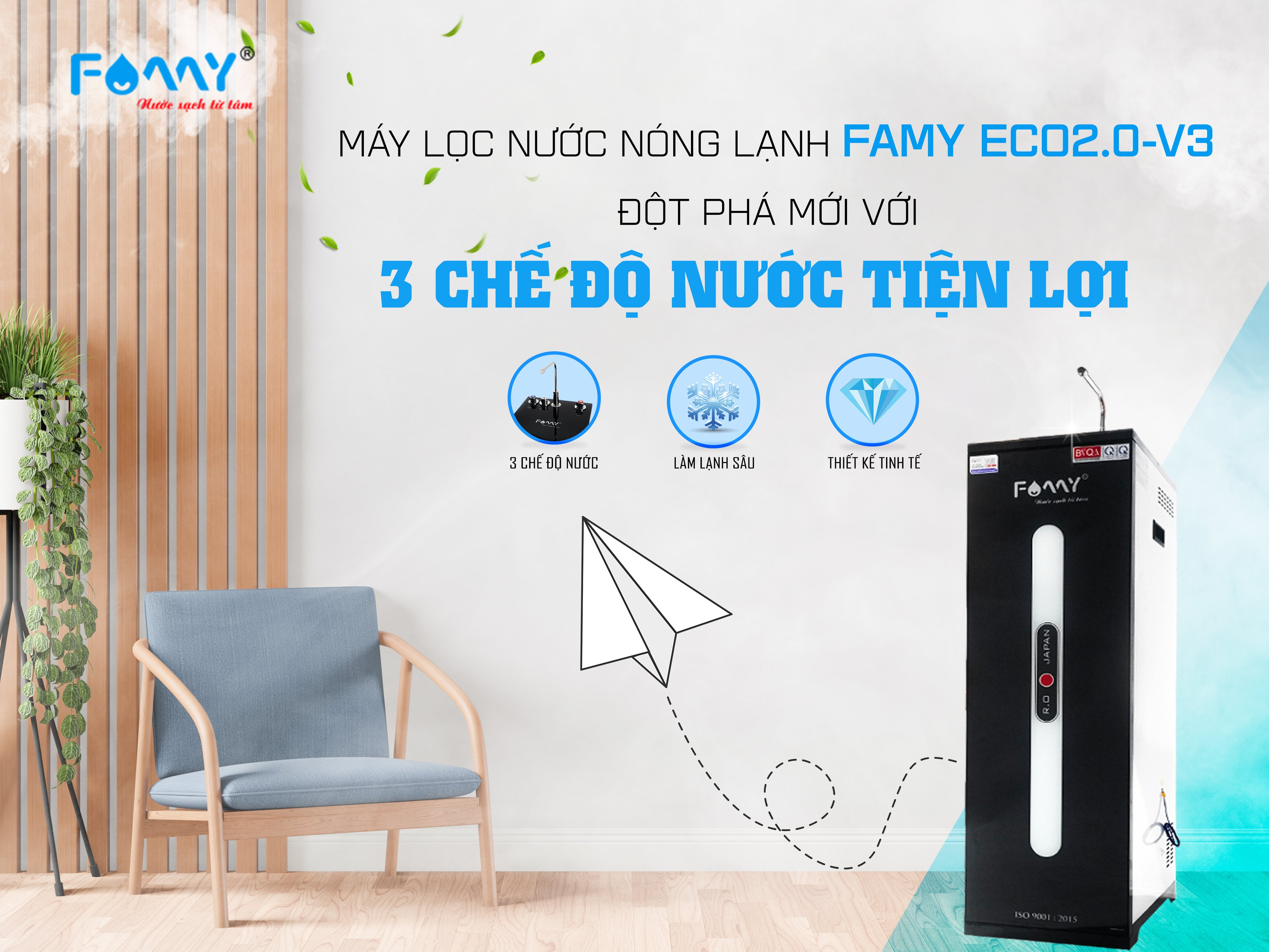 Máy lọc nước nóng lạnh Famy một sản phẩm tiện dung cho cuộc sống nhà bạn