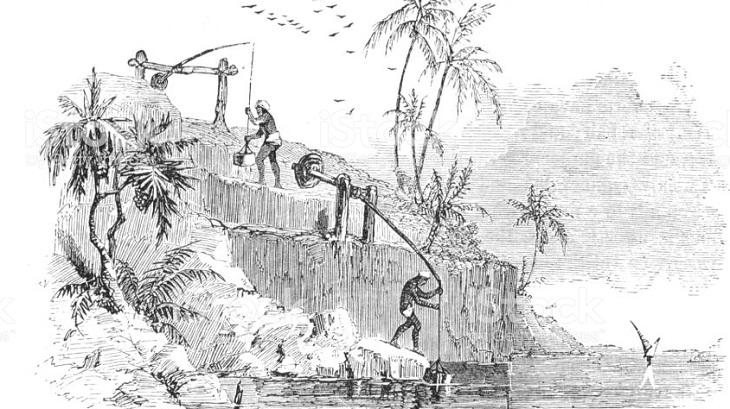 Cách bơm nước từ sông hồ của con người trong nền văn minh Lưỡng Hà