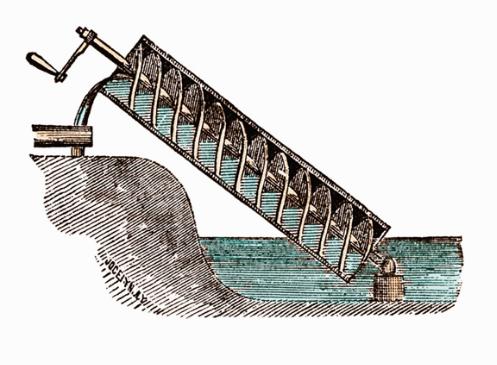 Máy bơm trục vít cổ đại
