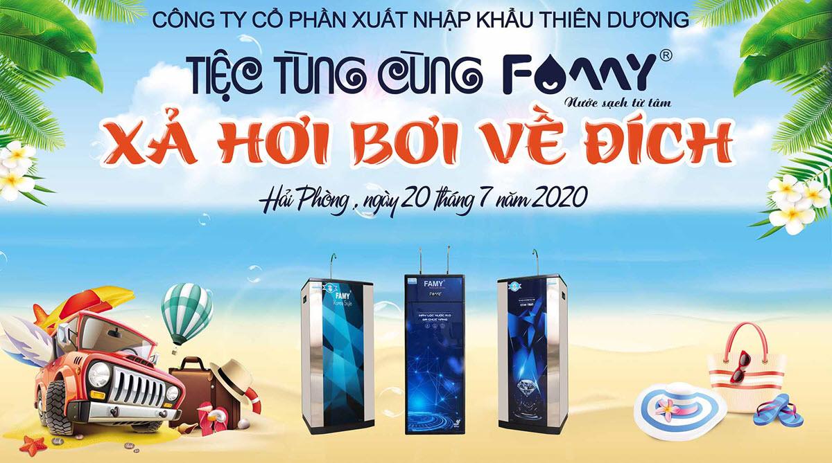Chương trình tiệc tùng cùng Famy - Du lịch hè 2020