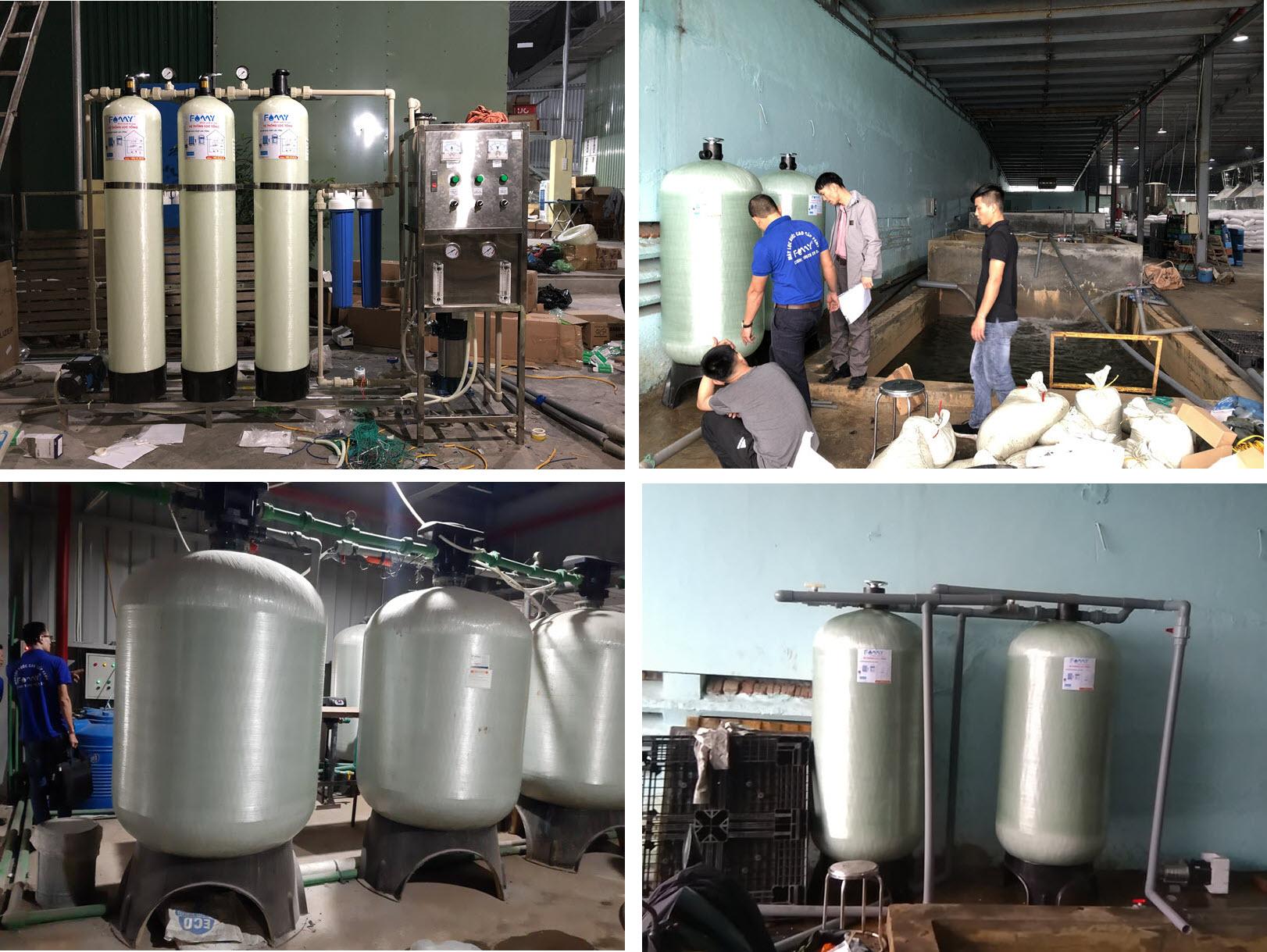 Một số hình ảnh cột lọc nước đã triển khai ở Famy Việt Nam