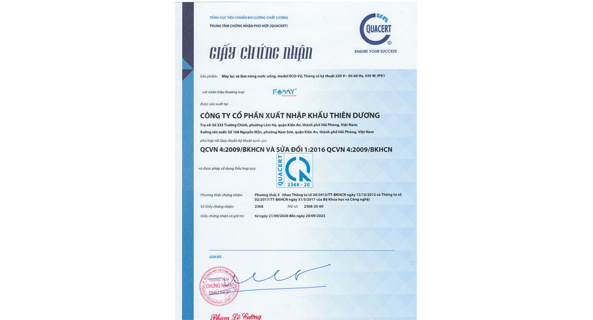 Chứng nhận hợp quy QCVN 04:2009/BKHCN