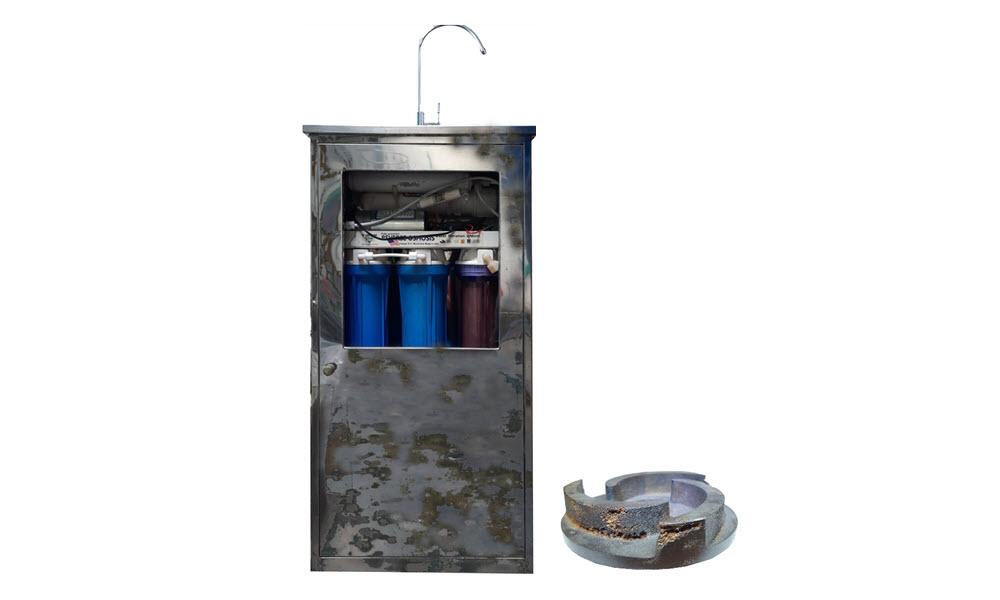 Các thành phần máy lọc nước dễ bị han gỉ trong môi trường nước nhiễm mặn
