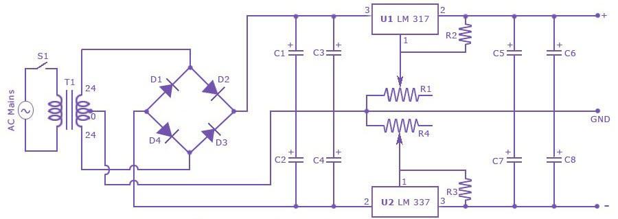 Sơ đồ mạch điện bộ đổi nguồn máy lọc nước Famy