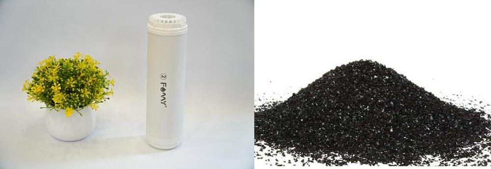 Lõi lọc nước số 2 chứa than hoạt tính dạng hạt GAC của Famy
