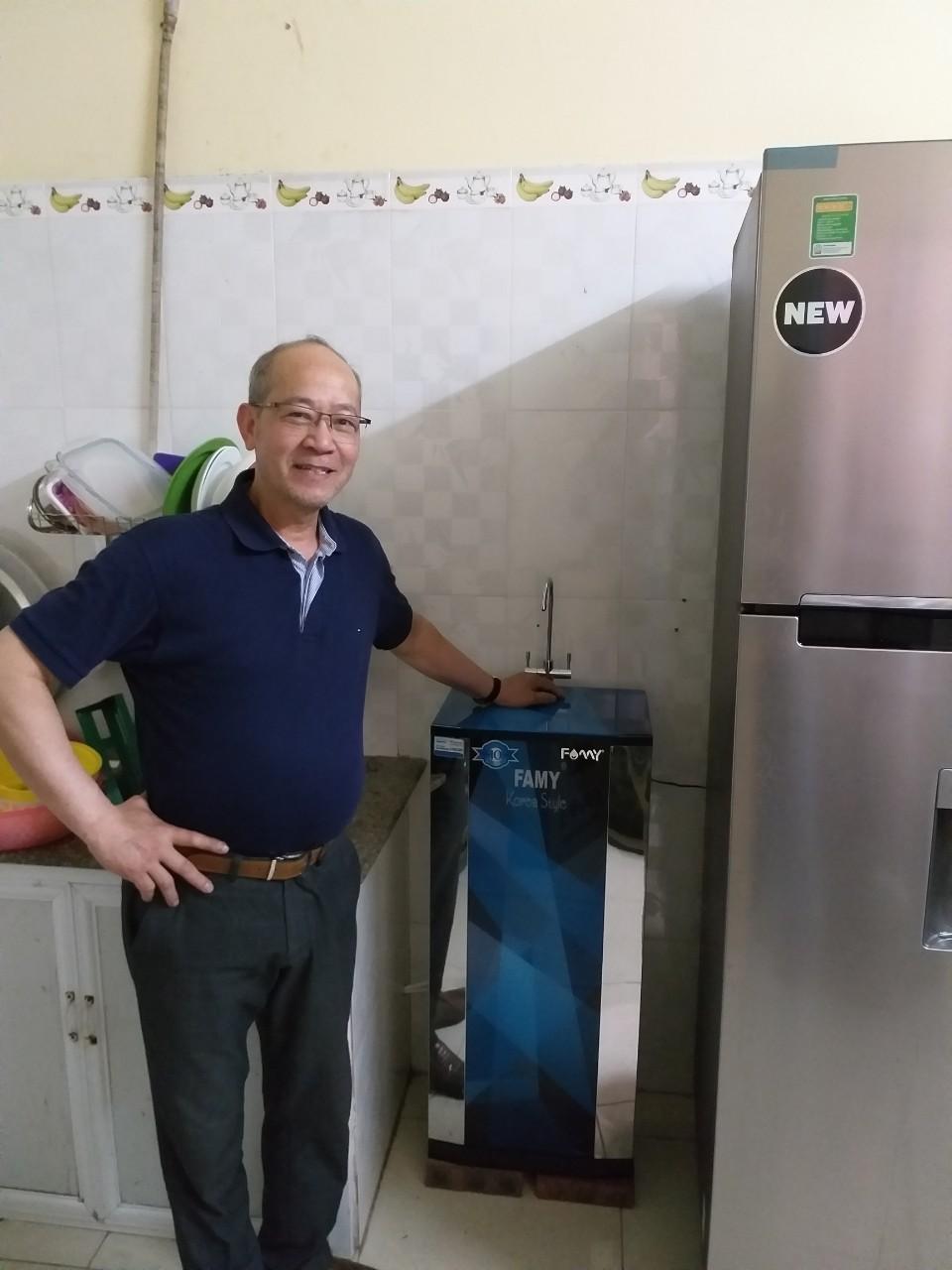Ảnh lắp đặt thực tế Máy lọc nước cao cấp Famy KR10IQ-HA