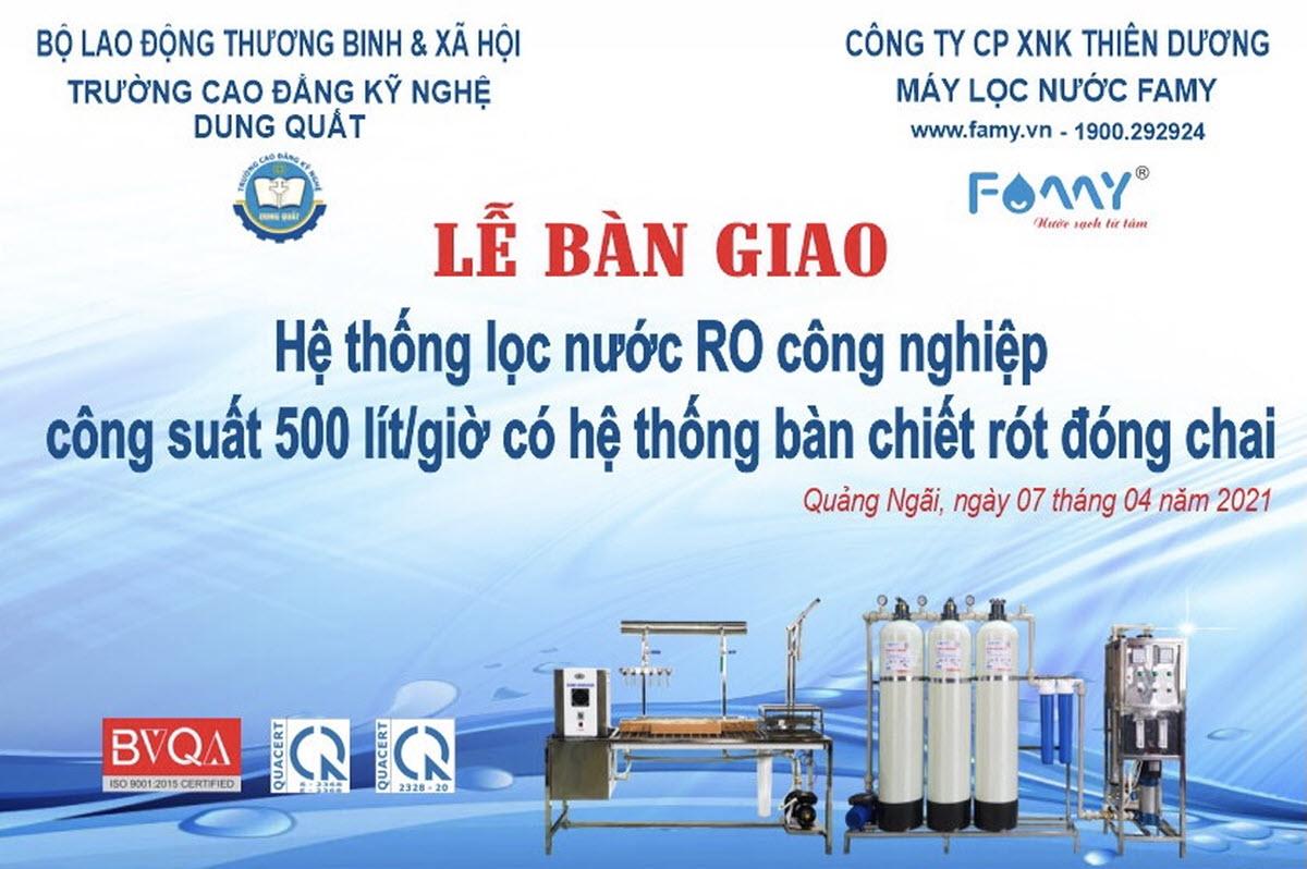 Hệ thống lọc RO công nghiệp kết hợp bàn chiết rót nước đóng chaih