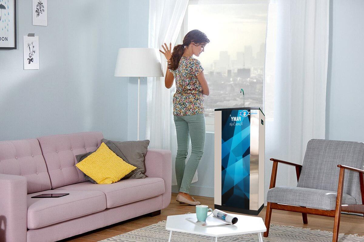 Lắp đặt máy lọc nước Famy KR9IQHA trong phòng khách