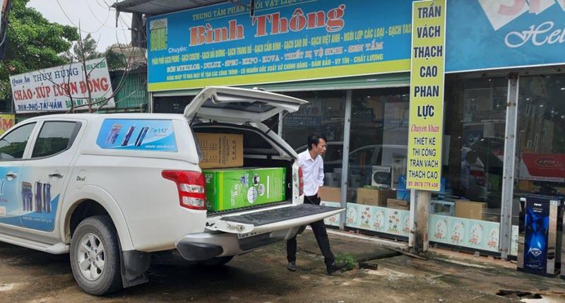 Nhà phân phối Bình Thông nhận chứng nhận phân phối sản phẩm Famy tại Nghệ An