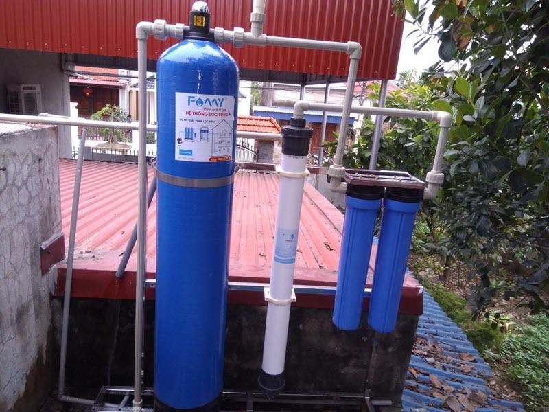 Bộ lọc nước tổng đầu nguồn FAMY cho gia đình, biệt thự, khách sạn