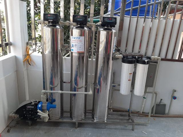 cột lọc nước thô
