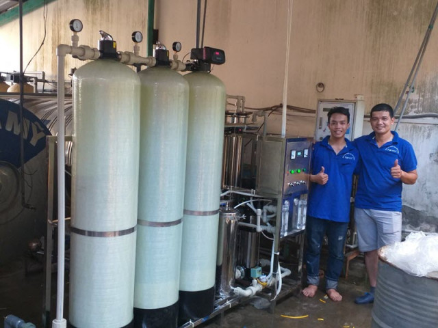 lắp đặt máy lọc nước công nghiệp