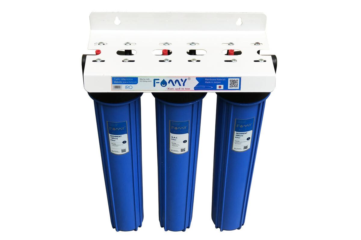 Bộ lọc thô đầu nguồn FAMY FA-LT04 3 cốc 20inch sử dụng cho không gian nhỏ
