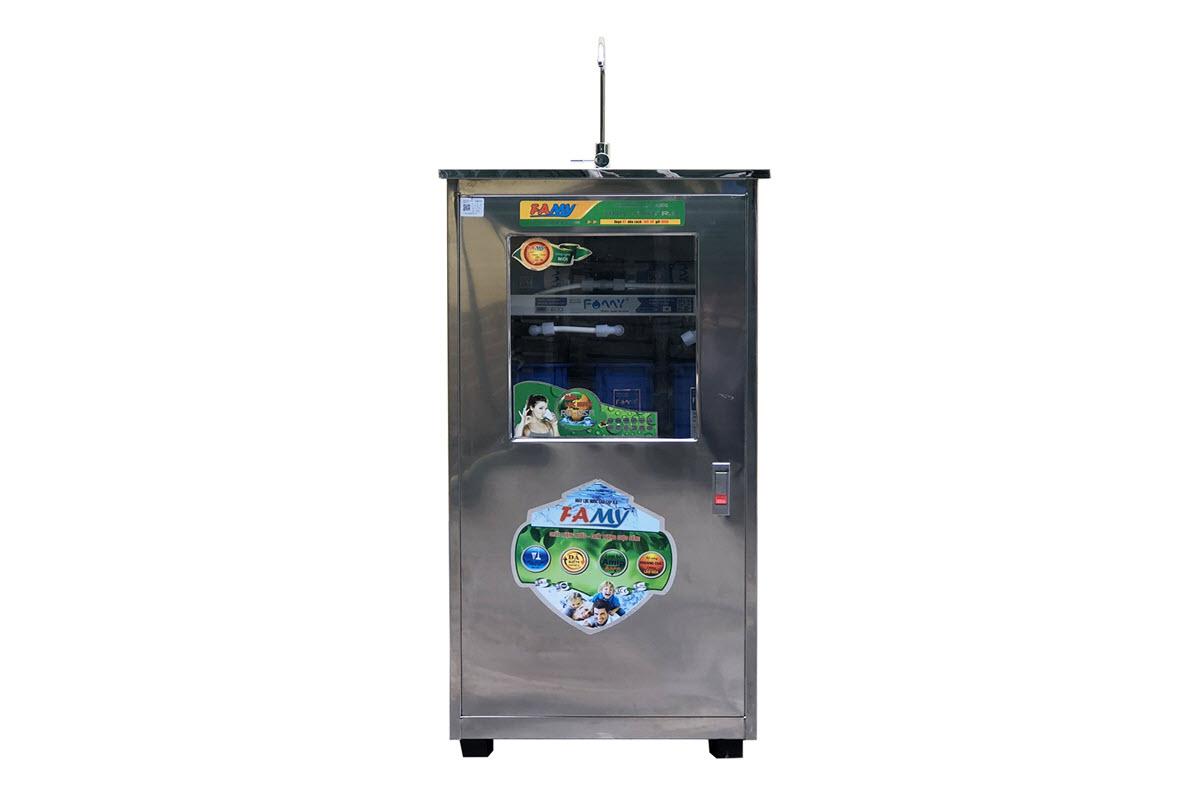 Máy lọc nước RO bán công nghiệp FAMY FA50IQ-1 công suất 50 lít/giờ tủ đơn inox 1 vòi