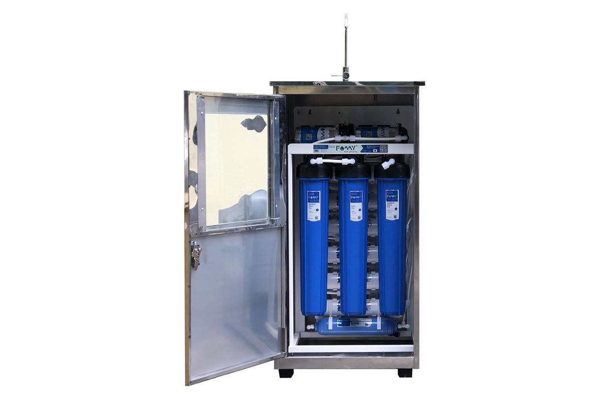 Máy lọc nước RO bán công nghiệp FAMY FA70IQ-1 công suất 70 lít/giờ tủ đơn inox 1 vòi
