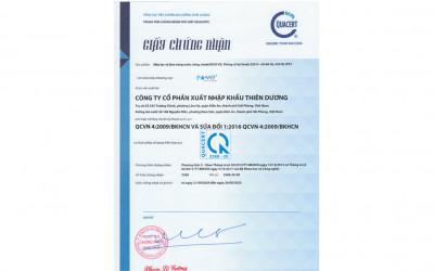 Máy lọc nước cao cấp Famy nhận chứng nhận hợp quy QCVN 04:2009/BKHCN
