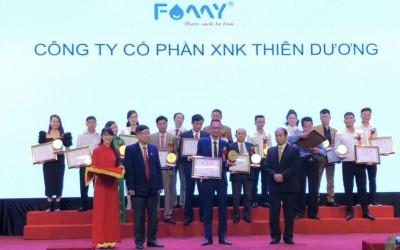 Máy lọc nước Famy được bình chọn Top 30 giải thưởng Sao vàng thương hiệu Việt Nam 2020