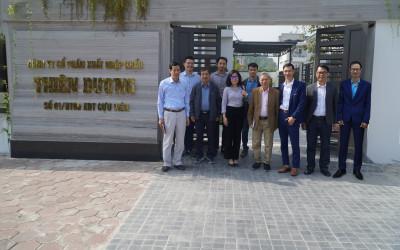 Đoàn công tác Tổng cục Tiêu chuẩn, đo lường chất lượng Bộ Khoa học & Công nghệ có chuyến thăm và làm việc với công ty CP XNK Thiên Dương