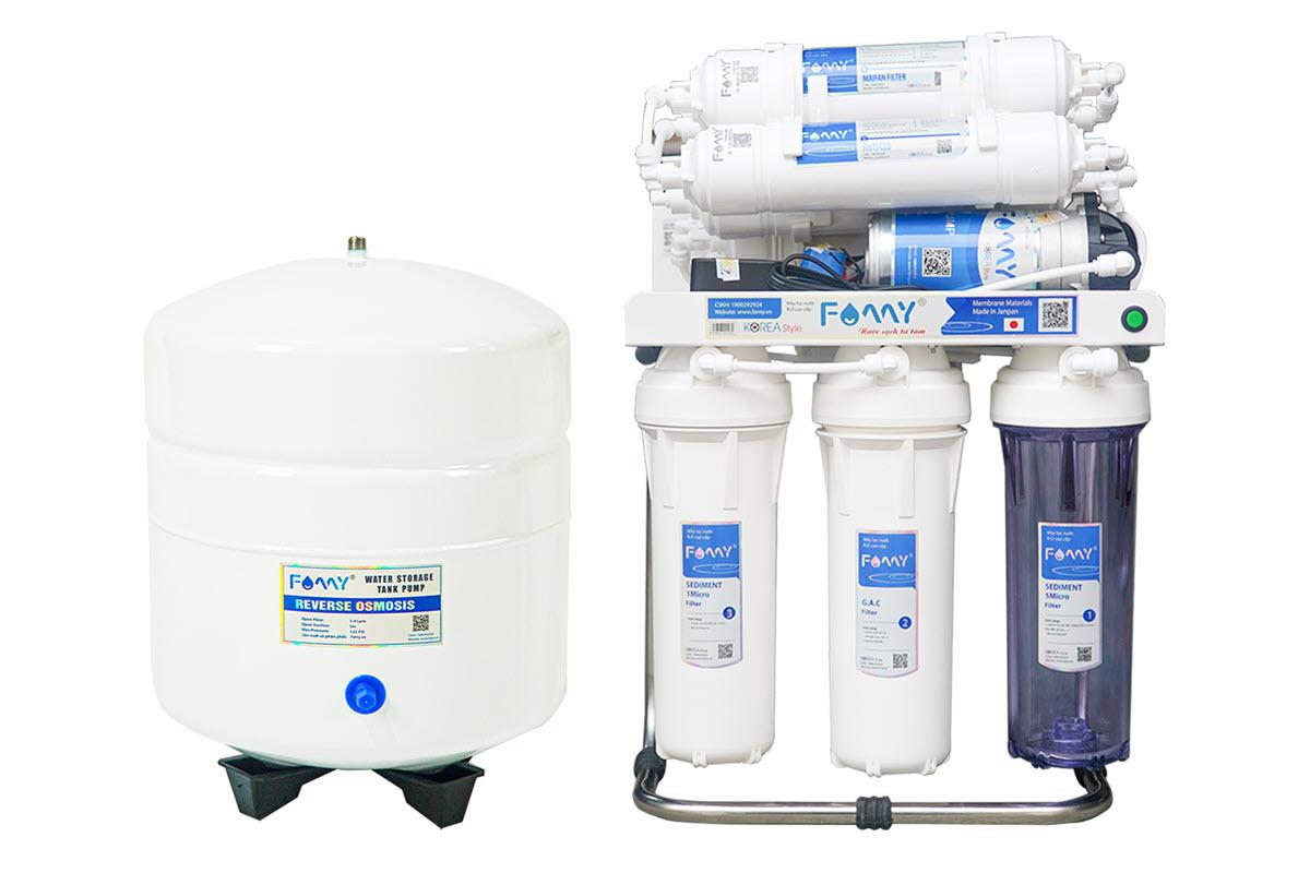 Máy lọc nước công nghệ Hàn Quốc FAMY KR9-HA 9 cấp lọc không vỏ tủ