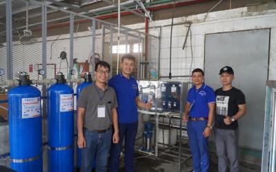 Famy hoàn thành xong hệ thống lọc công nghiệp 1000l/h cho công ty Sao Vàng tại Hải Phòng