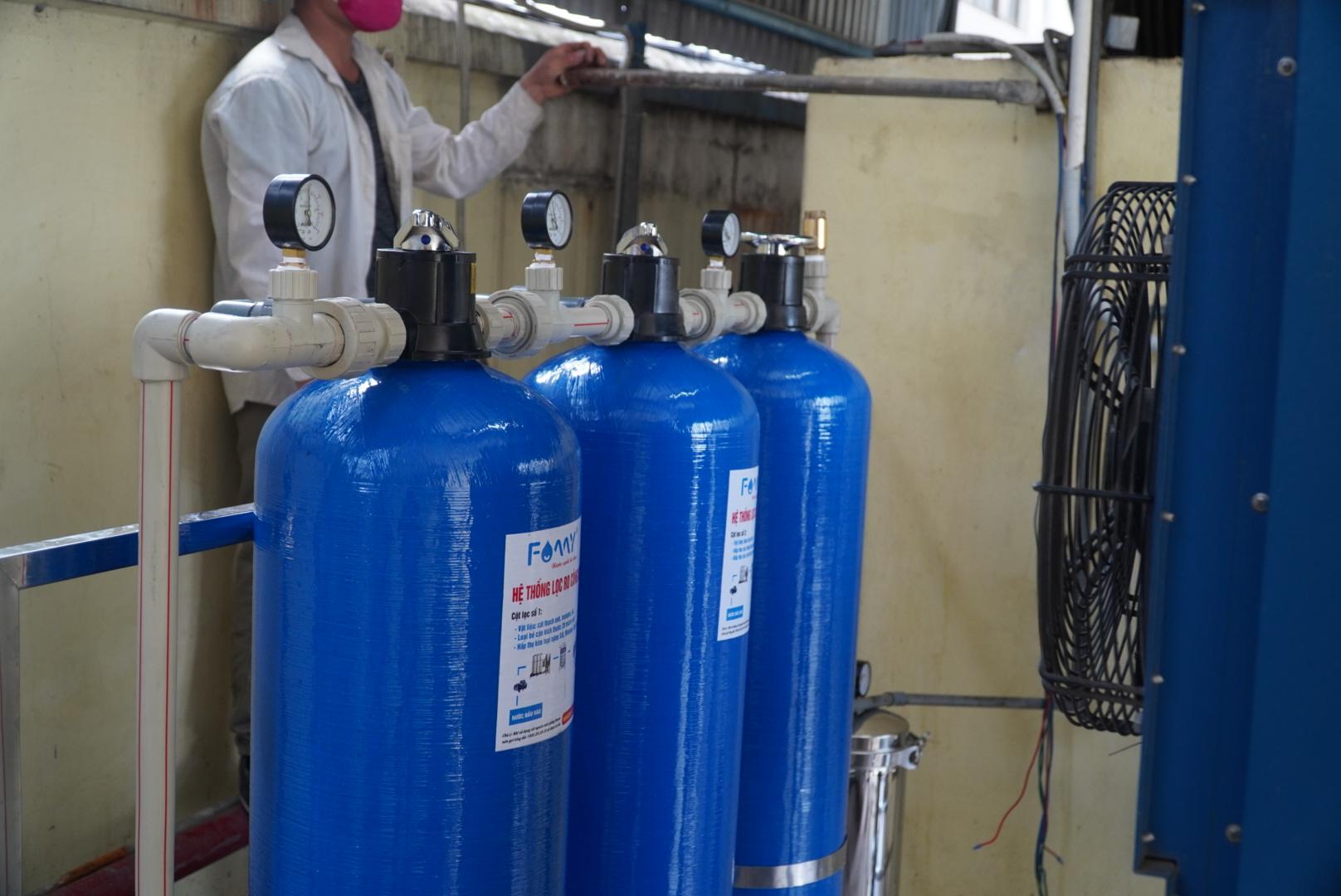 Hệ thống lọc RO công nghiệp 1000 lít/giờ cho nhà máy giầy Sao Vàng