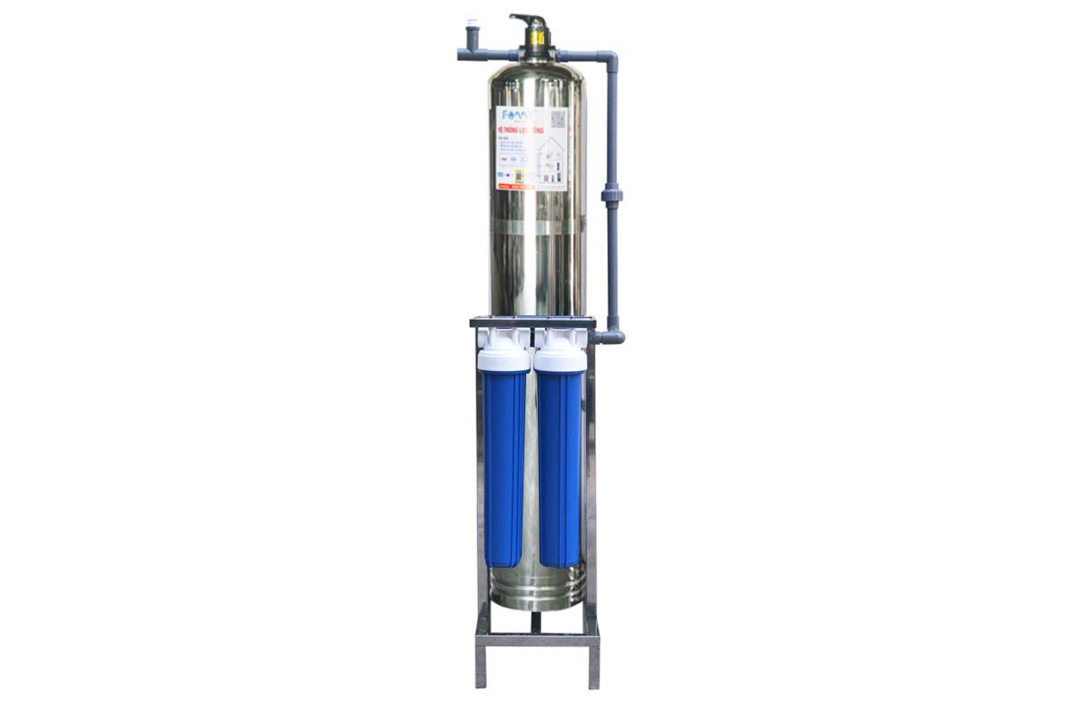 Hệ thống lọc tổng lọc nước đầu nguồn FAMY -LT01CI cột inox