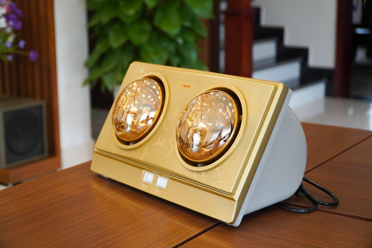 Đèn sưởi phòng tắm 2 bóng Famy FMS-02 siêu tiết kiệm điện
