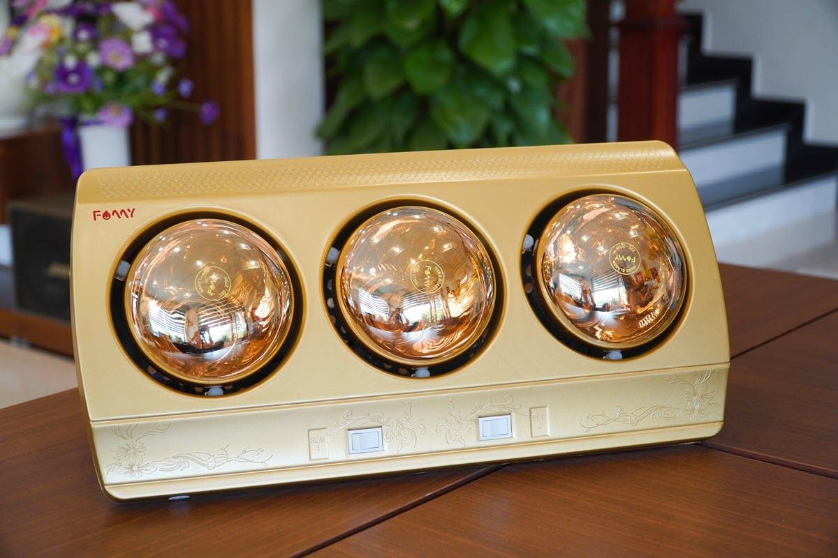 Đèn sưởi phòng tắm 3 bóng Famy FMS-03, nóng nhanh, tiết kiệm điện