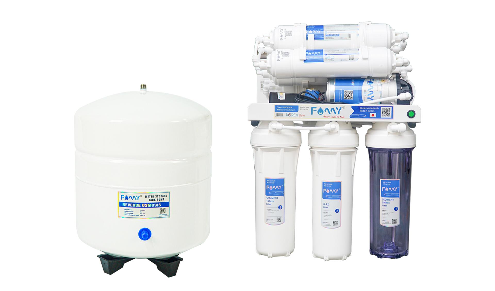 Máy lọc nước công nghệ Hàn Quốc FAMY KR10-HA 10 cấp lọc không vỏ tủ