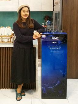 Ca sĩ Ngọc Anh nhận xét về Máy lọc nước Famy