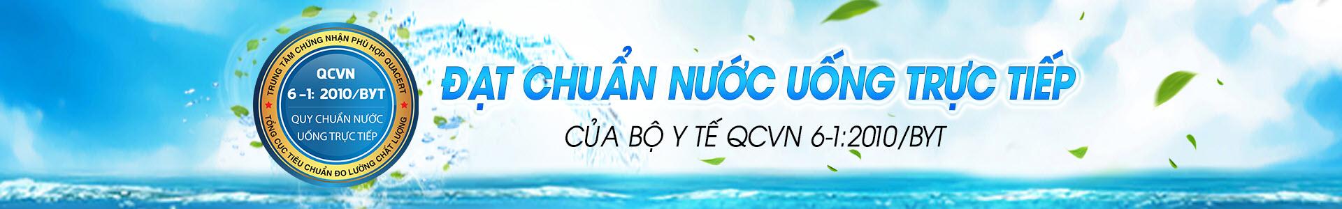 Máy lọc nước Famy đạt tiêu chuẩn nước uống trực tiếp QCVN6-1:2010/BYT của Bộ y tế